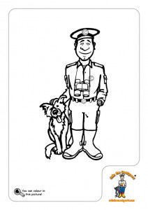 Colin the Coastguard and Rocky his dog