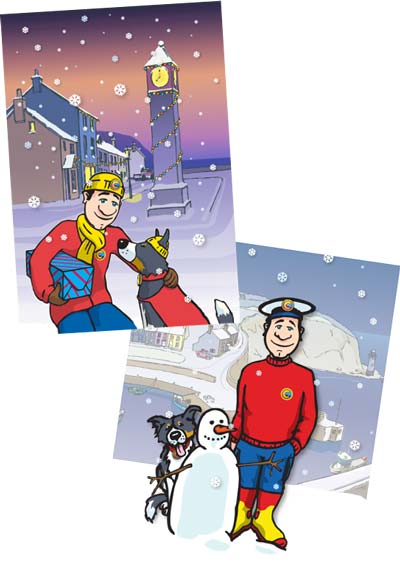 Colin the Coastguard Christmas Images