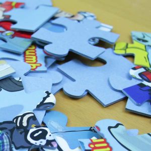 Personalised jigsaw pieces
