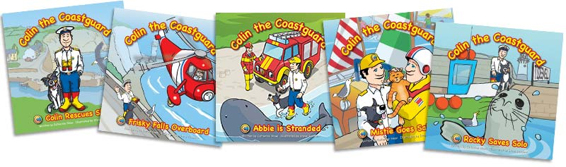 Colin the Coastguard five picture books